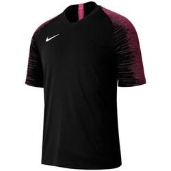vaatteet Pojat Lyhythihainen t-paita Nike JR Dri Fit Strike Top Tshirt Mustat