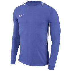 vaatteet Miehet T-paidat pitkillä hihoilla Nike Dry Park Iii Vaaleansiniset