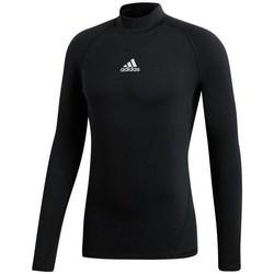 vaatteet Naiset T-paidat pitkillä hihoilla adidas Originals Alphaskin Climawarm Golf Mustat