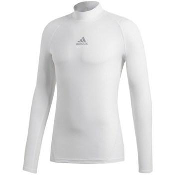 vaatteet Naiset T-paidat pitkillä hihoilla adidas Originals Alphaskin Climawarm Valkoiset