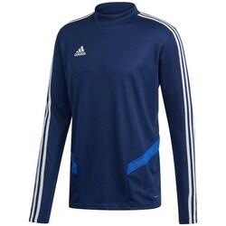 vaatteet Miehet T-paidat pitkillä hihoilla adidas Originals Tiro 19 Training Tummansininen