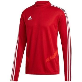 vaatteet Miehet T-paidat pitkillä hihoilla adidas Originals Tiro 19 Training Top Punainen