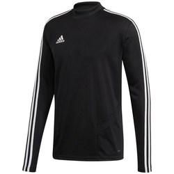 vaatteet Miehet T-paidat pitkillä hihoilla adidas Originals Tiro 19 Training Top Mustat