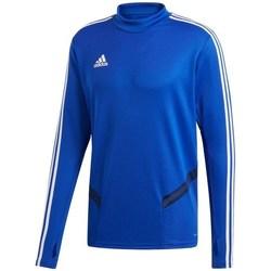 vaatteet Miehet T-paidat pitkillä hihoilla adidas Originals Tiro 19 Training Top Vaaleansiniset
