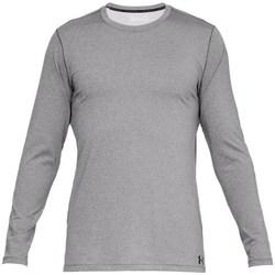 vaatteet Miehet T-paidat pitkillä hihoilla Under Armour Fitted CG Crew Harmaat