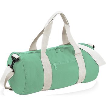 laukut Matkakassit Bagbase BG140 Mint Green/Off White