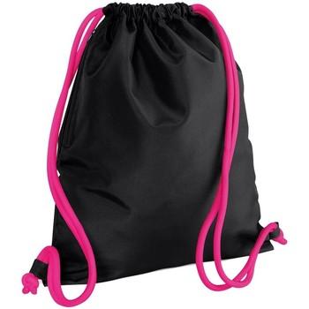 laukut Lapset Urheilulaukut Bagbase BG110 Black/Fuchsia