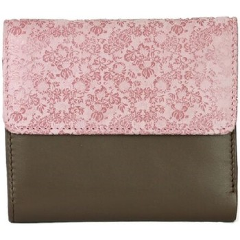 laukut Naiset Lompakot Eastern Counties Leather  Taupe/Pink Foil