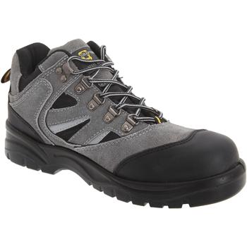 kengät Miehet Turvakenkä Grafters  Dark Grey/Black