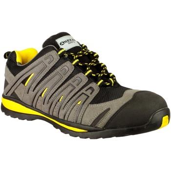 kengät Miehet Matalavartiset tennarit Amblers 42C S1P HRO Black/Grey/Yellow