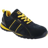 kengät Miehet Matalavartiset tennarit Grafters  Navy Blue/Yellow