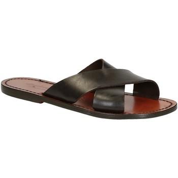 kengät Miehet Sandaalit ja avokkaat Gianluca - L'artigiano Del Cuoio 560 D MORO CUOIO Testa di Moro