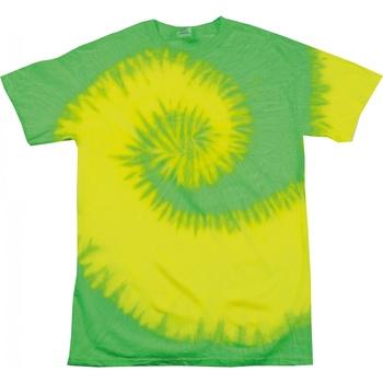 vaatteet Naiset Lyhythihainen t-paita Colortone Rainbow Fluorescent Yellow/ Lime