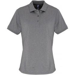 vaatteet Naiset Lyhythihainen poolopaita Premier PR616 Grey Melange