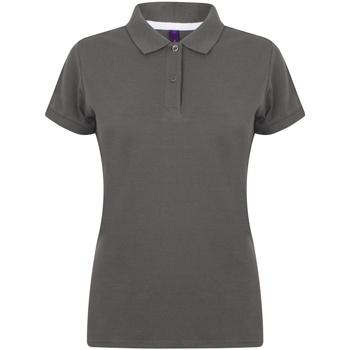 vaatteet Naiset Lyhythihainen poolopaita Henbury HB102 Charcoal