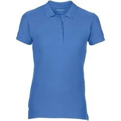 vaatteet Naiset Lyhythihainen poolopaita Gildan 85800L Flo Blue