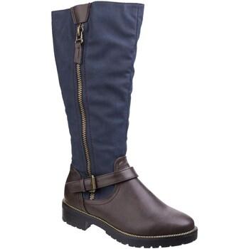 kengät Naiset Saappaat Divaz  Brown/Blue