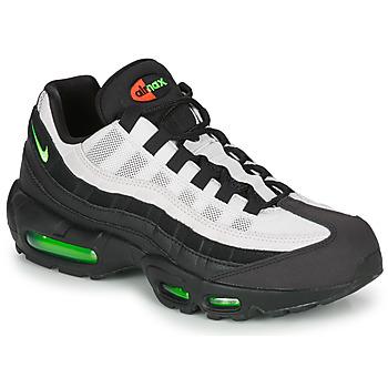kengät Miehet Matalavartiset tennarit Nike AIR MAX 95 Black / White / Green