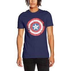 vaatteet Lyhythihainen t-paita Captain America  Blue