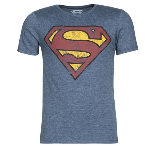 vaatteet Miehet Lyhythihainen t-paita Casual Attitude SUPERMAN LOGO VINTAGE Laivastonsininen