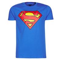 vaatteet Miehet Lyhythihainen t-paita Casual Attitude SUPERMAN LOGO CLASSIC Blue