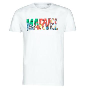 vaatteet Miehet Lyhythihainen t-paita Casual Attitude MARVEL HERO LOGO White
