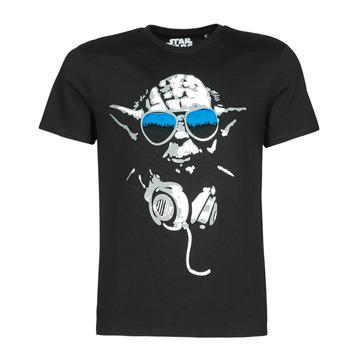vaatteet Miehet Lyhythihainen t-paita Casual Attitude DJ YODA COOL Black