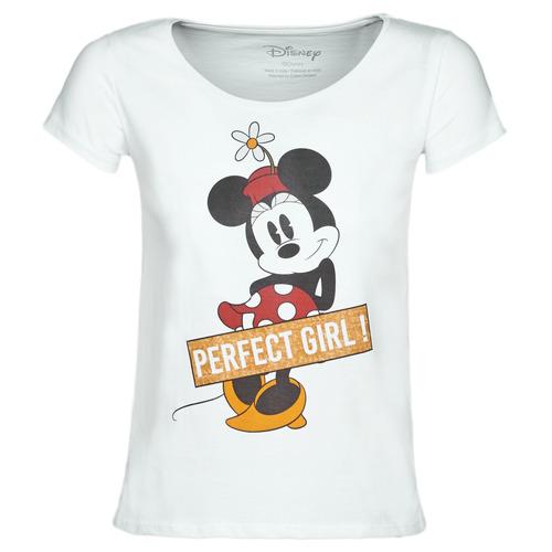 vaatteet Naiset Lyhythihainen t-paita Moony Mood MINNIE PERFECT GIRL White
