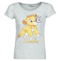 vaatteet Naiset Lyhythihainen t-paita Yurban THE LION KING Harmaa