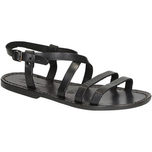 kengät Naiset Sandaalit ja avokkaat Gianluca - L'artigiano Del Cuoio 531 D NERO CUOIO nero