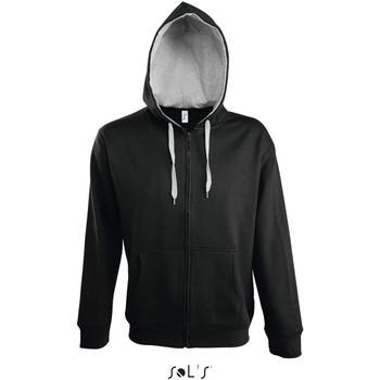 vaatteet Miehet Ulkoilutakki Sol's Veste zippé à capuche  Soul noir
