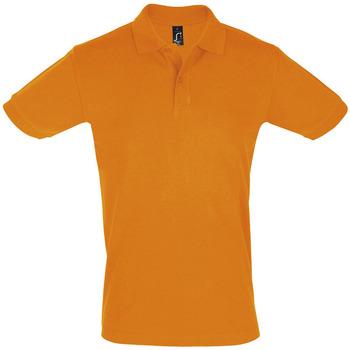 vaatteet Miehet Lyhythihainen poolopaita Sols PERFECT COLORS MEN Naranja