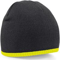 Asusteet / tarvikkeet Pipot Beechfield B44 Black/Fluorescent Yellow