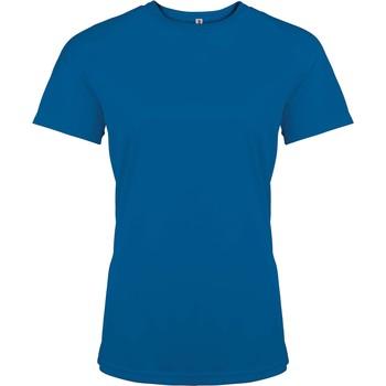 vaatteet Naiset Lyhythihainen t-paita Proact T-Shirt femme manches courtes  Sport bleu marine