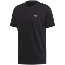 vaatteet Miehet Lyhythihainen t-paita adidas Originals Trefoil Essentials Tee Mustat