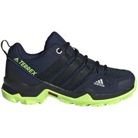 kengät Pojat Juoksukengät / Trail-kengät adidas Originals Terrex AX2R K Mustat,Tummansininen