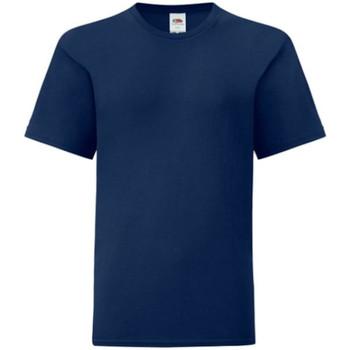 vaatteet Pojat Lyhythihainen t-paita Fruit Of The Loom 61023 Navy