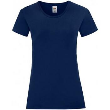 vaatteet Naiset Lyhythihainen t-paita Fruit Of The Loom 61432 Navy