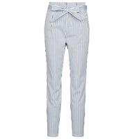 vaatteet Naiset Chino-housut / Porkkanahousut Vero Moda VMEVA White / Grey