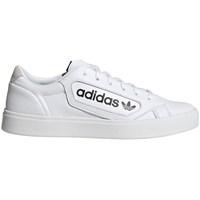 kengät Naiset Matalavartiset tennarit adidas Originals Sleek W Valkoiset