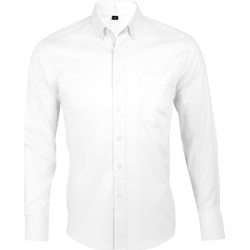 vaatteet Miehet Pitkähihainen paitapusero Sols BUSINESS MEN Blanco