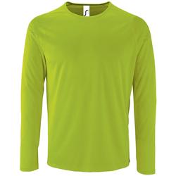 vaatteet Miehet T-paidat pitkillä hihoilla Sols SPORT LSL MEN Verde