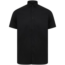 vaatteet Miehet Lyhythihainen paitapusero Henbury HB517 Black