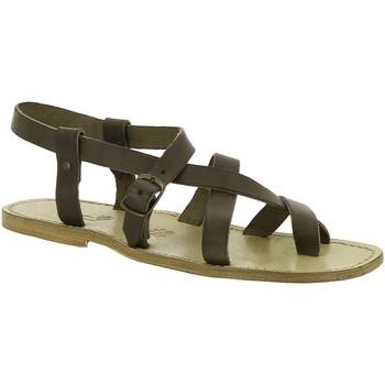 kengät Naiset Sandaalit ja avokkaat Gianluca - L'artigiano Del Cuoio 530 U FANGO CUOIO Fango