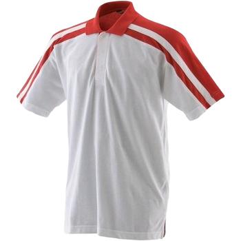 vaatteet Miehet Lyhythihainen poolopaita Finden & Hales LV328 White/Red