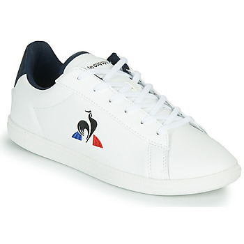 kengät Lapset Matalavartiset tennarit Le Coq Sportif COURTSET JUNIOR White / Blue