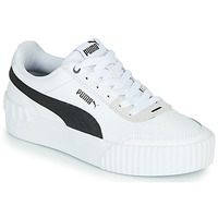 kengät Naiset Matalavartiset tennarit Puma CARINA LIFT White / Black / Grey
