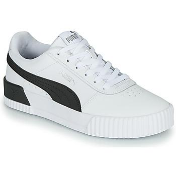 kengät Naiset Matalavartiset tennarit Puma CARINA Valkoinen / Musta