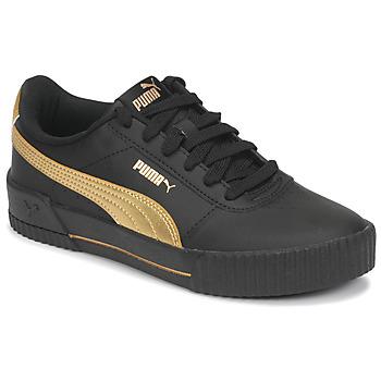kengät Naiset Matalavartiset tennarit Puma CARINA Musta / Kulta