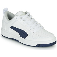 kengät Lapset Matalavartiset tennarit Puma REBOUND LOW White / Blue